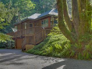 Charming riverfront home w/private hot tub & spacious deck in a tranquil setting, Rhododendron