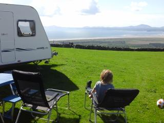 Touring caravan at any Snowdonia caravan site., Harlech
