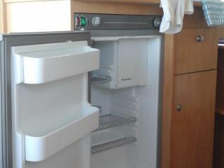 Electric/gas fridge and freezer.