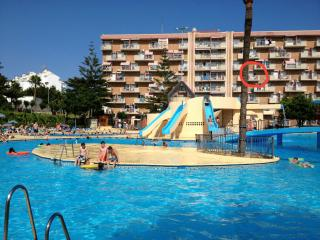 Studio Jupiter Minerva overlooks pools Benalmadena