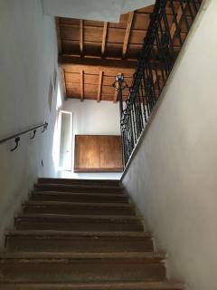 solaio in legno del palazzo