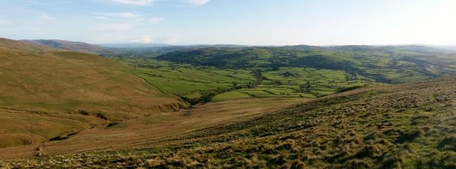 The view from the fells above the farm - you can see for miles!