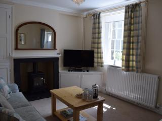 The sitting room with feature Esse cast iron gas stove