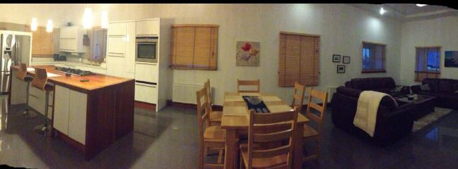 Kitchen/dining/living panorama