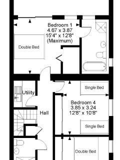 Here are the floor plans of this amazing 5 x bedroom lakeside holiday villa - GROUND FLOOR