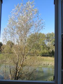 Vue sur la rivière de la chambre verveine.