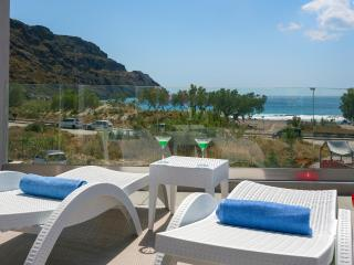 ★Beachfront★Luxury villa Iakinthos with Private Pool★30m to Amenities+BBQ area!