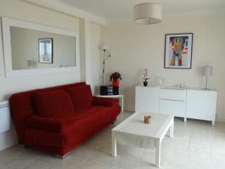 Séjour appartement  T2  CANNES  vue mer parking, Cannes