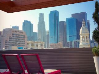 High end 2 bed, 2 bath apt in DTLA, free parking