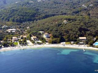 Avlaki beachfront villa with pool in Kassiopi