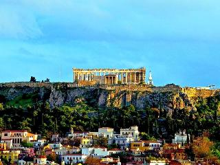 rooftop view to Acropolis. Original photo
