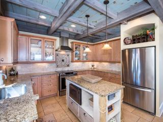 Upscale stainless steel appliances.