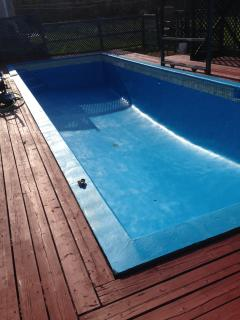 New painted heated pool ready for action