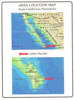 Baja Sur Location Map for Cabo Pulmo
