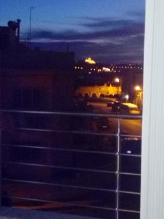 the night view of the silent city called Mdina from the front balcony