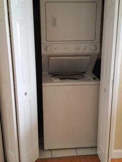 Full washer dryer, this is actually an old picture now has new LG stackable unit