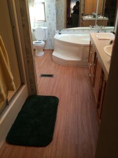 Master bathroom duel sinks
