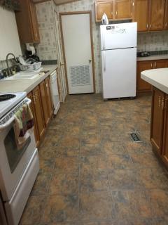 New flooring in kitchen