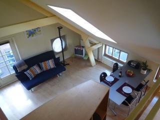 Cosy (loft)apartment in monumental wharf house, Amsterdã