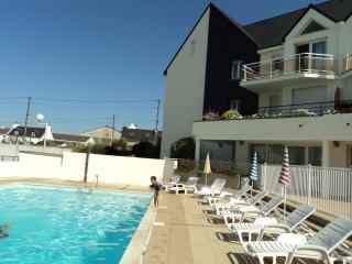 Studio cabine, piscine chauffée, port, Etel