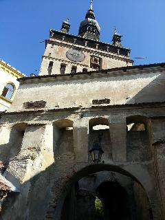 Must see the ancient clock tower in Sighisoara