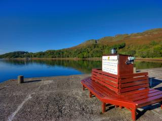 Sauna ,spa bath, water side views of Loch Melford.