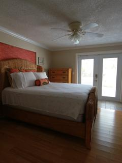 Primary bedroom with queen size bedding. Large walk-in closet with plenty of hangers...