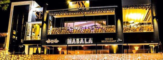 Six bar and Masala restaurant also walking distance from the house