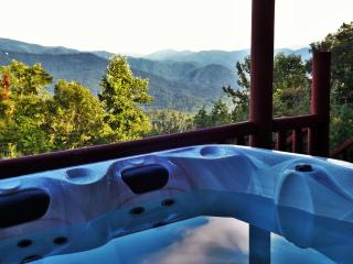 Mountain Views-Romantic Master-2 Fireplaces-Hot Tub-10 min to Town-WiFi