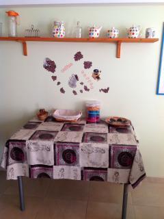 zona cocina - mesa de servicio