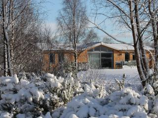 Winter view of the lodge.