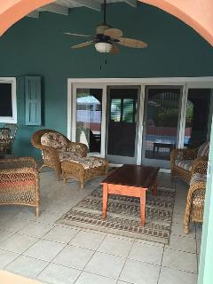 Relax or dine on the covered patio