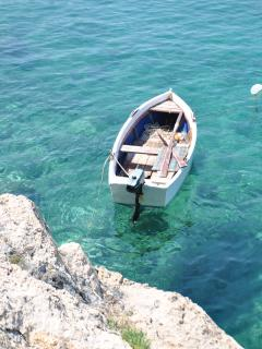 The sea is crystal clear in Orasac and especially clean.