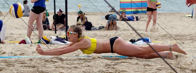 try beach volleyball