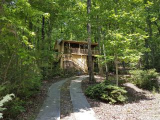 Jeffrey's Hideaway Treehouse Romantic Helen Cabin! 1 BR and 1 BR in loft area