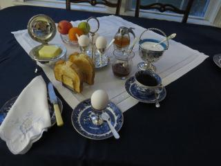 Breakfasts are a joy with homemade jams and preserves, soft boiled OR
