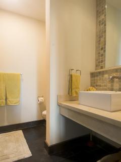Vanity area in guest bathroom
