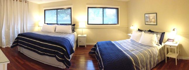 Panoramic of big bedroom