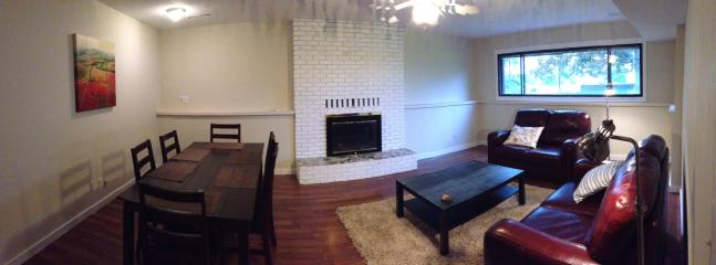 Panoramic living room and dinning area