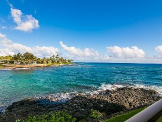 Kuhio Shores 207 Spectacular oceanfront 1bd with awesome ocean views. Watch the sea turtles from your lanai. Free car with stays 7 nts or more*, Koloa