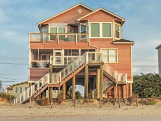 New Listing! 'Lee Cottage' Regal Beachside 6BR Murrells Inlet House w/Private Sun Deck, Exterior Showers & Covered Oceanfront Porch - Incredible Location Near Shops, Restaurants & More!