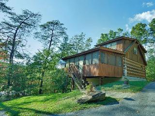 One Bedroom Smoky Mountain Log Cabin with Outdoor Fire Pit and Game Room