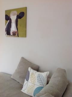 Sitting room with L shaped corner sofa