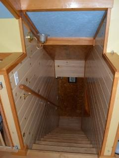 Steps up to 'Loft' which Sleeps 6