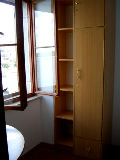 A wardrobe/closet for use during your stay. Unpack, stay awhile.