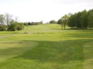 16th tee of Old course, leading up to The Laurels which can be seen at the top of the hill