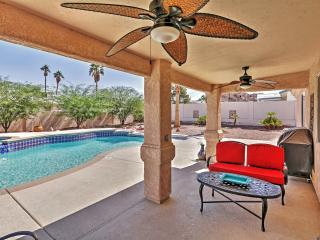 Tropically Inviting 3BR Lake Havasu City Home w/Wifi, Private Outdoor Pool, Spa, Peaceful Mountain Views & Prime Lakeside Location - Minutes Away from All the Fun!