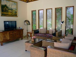 The open living room has TV, cable, DVD, wifi and great furniture.