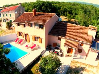 Villa for 8 with 4 BR, 5 BA, private Pool, Sauna, Gym&Whirlpool, Labin