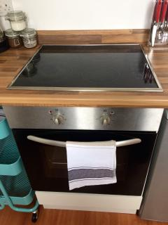 Induction hob and fan assisted oven and grill